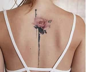 back tattoo, color, and flower image