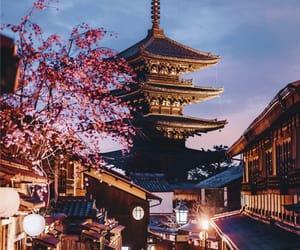fashion, sakura, and tourist image
