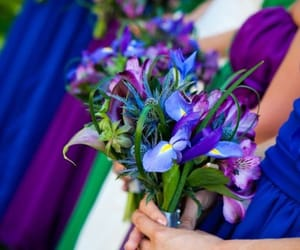 blue, wedding, and bridesmaids image