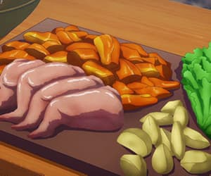 anime, ingredients, and anime food image
