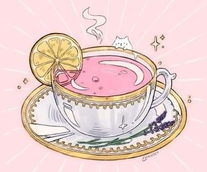tea, art, and pink image