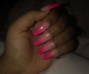 baby pink, pink, and pink nails image