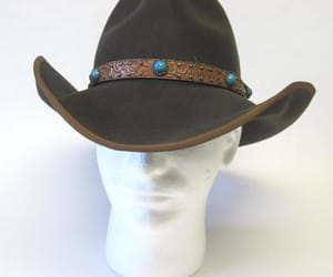 Cowgirl, etsy, and wide brim hat image