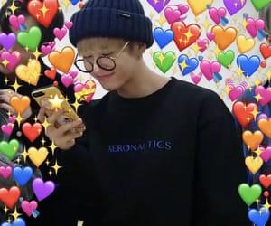 meme, heart, and kpop image
