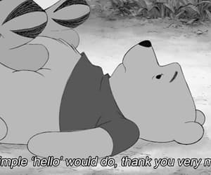 winnie the pooh, cute, and hello image