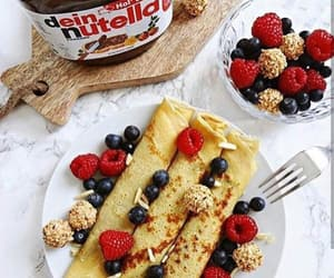 chocolate, nutella, and breakfast image