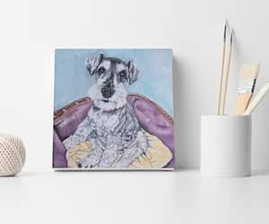 dogs, etsy, and pet portrait image