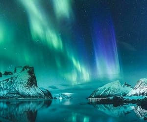 northern lights, norway, and norge image