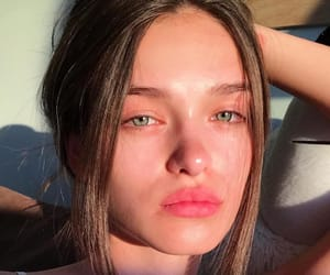 beauty, golden hour, and clear skin image