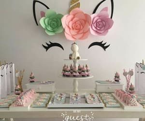 unicorn, birthday, and party image