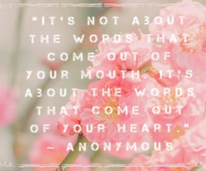 flowers, pink, and quote image