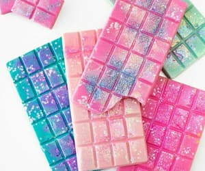 chocolate, pink, and bars image
