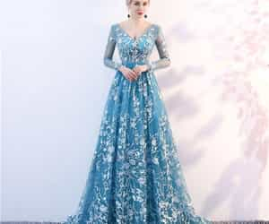 evening dress, tulle, and long dress image