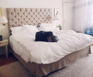 bag, bed, and bedroom image