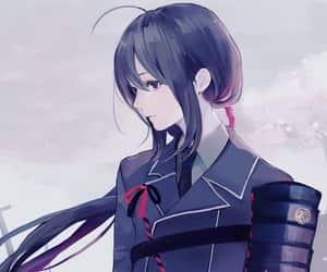 anime, long, and ponytail image