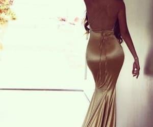 fashion, prom dress, and sexy back image