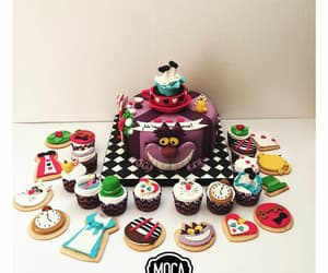alice in wonderland, birthday, and cake image