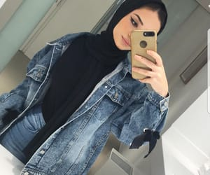 beauty, selfie, and denim image