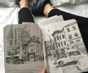 art, cars, and city image