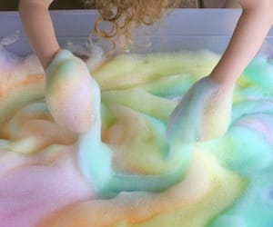 rainbow, colors, and bath image