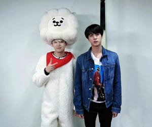 jin, bts, and suga image
