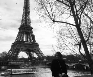 b&w, chic, and eiffel tower image