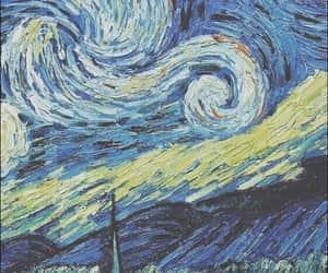 starry night, van gogh, and wallpaper image