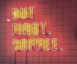 coffee, neon, and light image