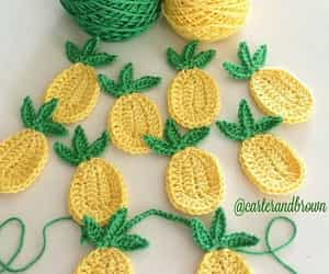 crochet, summer, and pineapples image