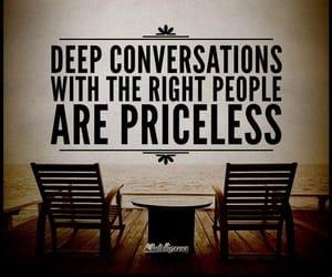 conversation, deep, and friendship image