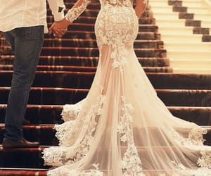 sheer back wedding dress, sheer bridal dress, and sexy wedding inspired image