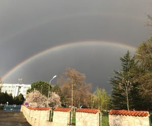 rainbow, two rainbows, and double rainbow image