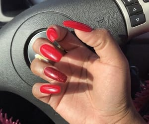 beauty, red, and longnails image