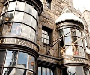 harry potter, hogwarts, and ollivander image