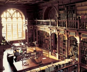 library, books, and hogwarts image