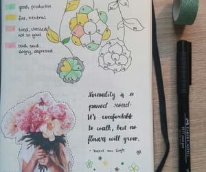 calligraphy, flowers, and inspo image
