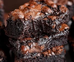 brownie, chocolate, and comida image