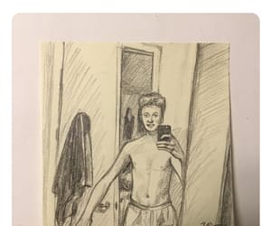 art, drawing, and post it image
