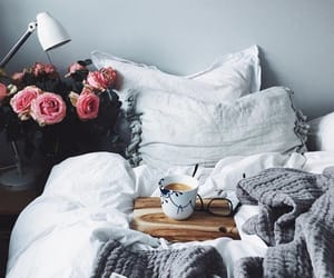 coffee, decorate, and flowers image
