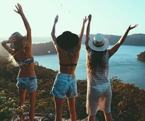 summer, fashion, and friendship image