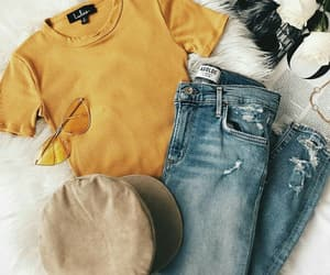 fashion, yellow, and tumblr image