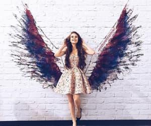 girl, angel, and art image
