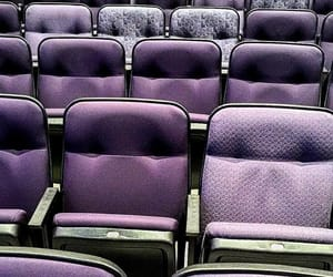 purple, seats, and seating image