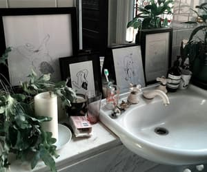 plants, aesthetic, and bathroom image