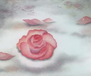 rose, anime, and flower image