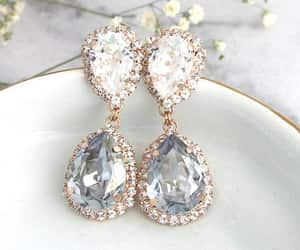 bling, bridal jewelry, and earrings image