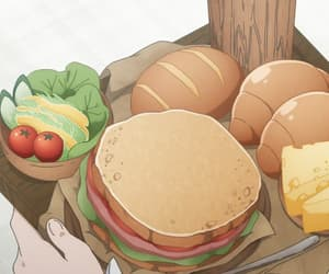 anime, bread, and japan image