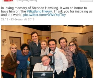 stephen hawking, the big bang theory, and ❤ image