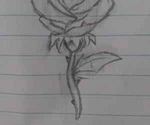 aesthetic, flower, and pencil image