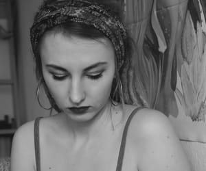 black and white, dreads, and headband image